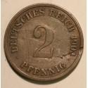 2 pfennig 1904 G