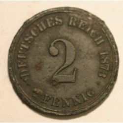 2 pfennig 1873 A