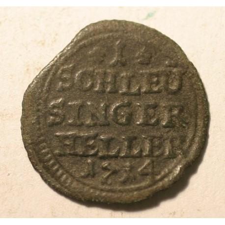 Hrabstwo Hennenberg 1 Schleusinger heller 1714