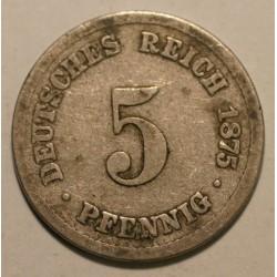 5 pfennig 1875 B