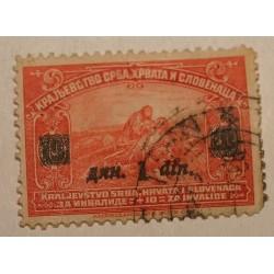 Jugosławia 1922/24 z nadrukiem 1 din