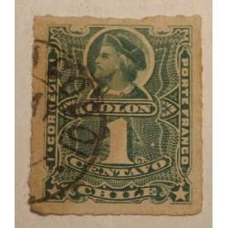 Chile 1877 1 centavo