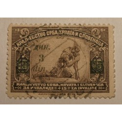 Jugosławia 1922/24 z nadrukiem 3 din