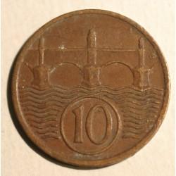 Czechosłowacja 10 halerzy 1938