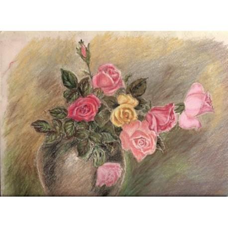 Róże - pastel