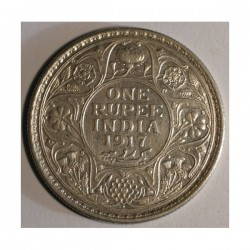 Indie brytyjskie 1 rupia 1917
