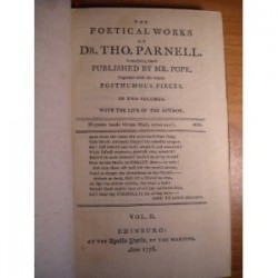The poetical works of Tho Parnell vol. 2 1778