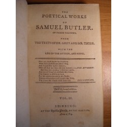 The poetical works of Samuel Butler vol. 3 1784