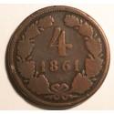 4 krajcary 1861 A