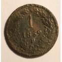 1 krajcar 1859 B