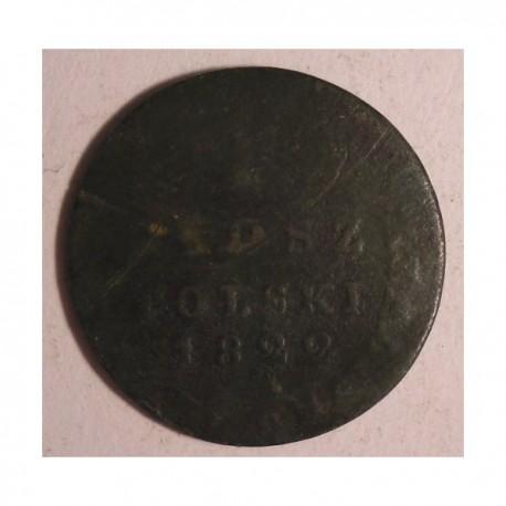 1 grosz polski z miedzi krajowej 1822