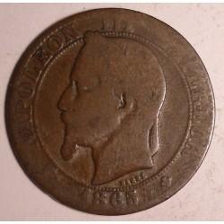 Francja 5 centimes 1865 B