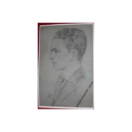 Portret mężczyżny - pastel 1928