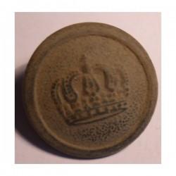Pruski guzik wojskowy - korona