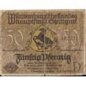 Stuttgart 50 pfennig 1921, seria D