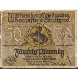 Stuttgart 50 pfennig 1921, seria B