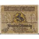 Stuttgart 50 pfennig 1921, seria A