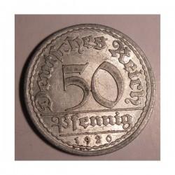 50 pfennig 1920 A