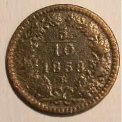 5/10 krajcara 1858 B