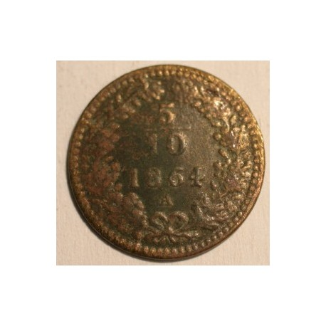 5/10 krajcara 1864 A