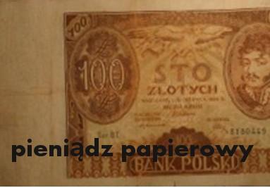 pieniądz papierowy